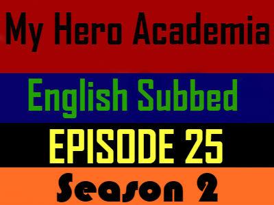 My Hero Academia Season 2 Episode 25 English Subbed